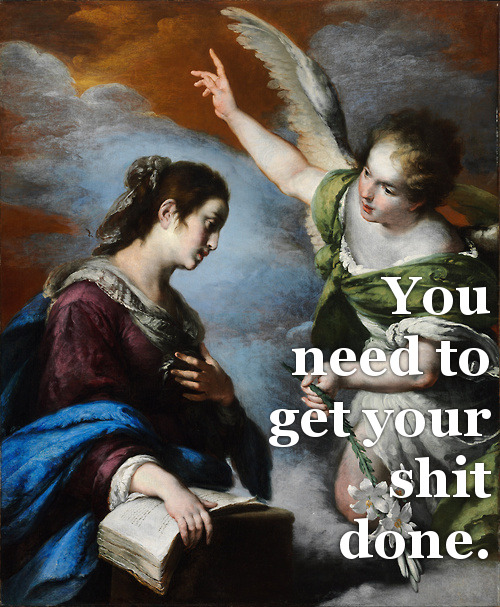 bitchfaceart:  Bernardo Strozzi, The Annunciation