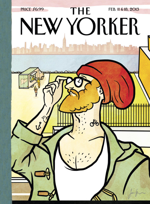"atavist:  newyorker:  This week's Anniversary-issue cover, ""Brooklyn's Eustace,"" is by Simon Greiner, a thirty-one-year-old reader from Sydney, Australia, who submitted it through our 2013 Eustace Tilley Contest. Here, Greiner talks about the inspiration for his cover, plus see a slideshow of all of the 2013 Eustace Tilley finalists: http://nyr.kr/VyjBCX  B.R.O.O.K.L.Y.N."