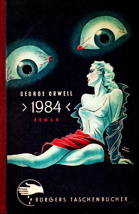 German cover illustration for George Orwell's Nineteen Eighty-Four