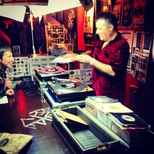 Jello Biafra on the decks.