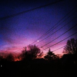 🌙 Walking out of my door this morning #pretty #nojustice