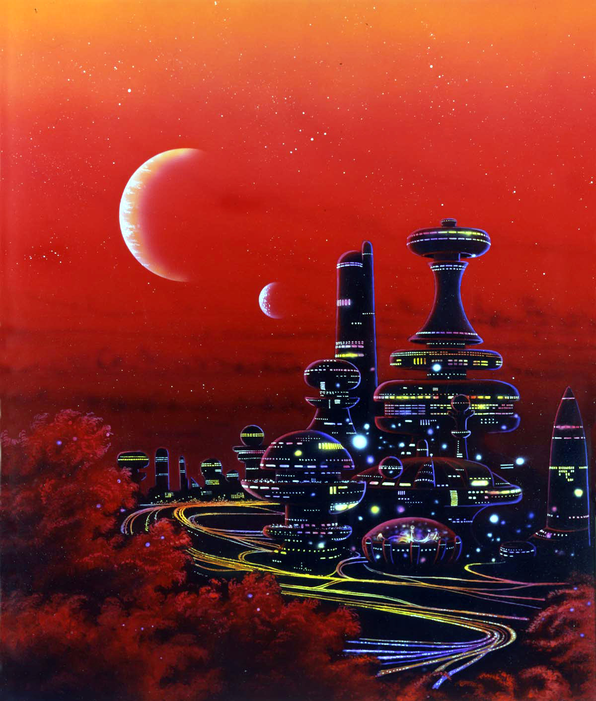 70s Sci Fi Art Chris Foss: Photo Set John Berkey Tim White Michael Bohme Chris Foss
