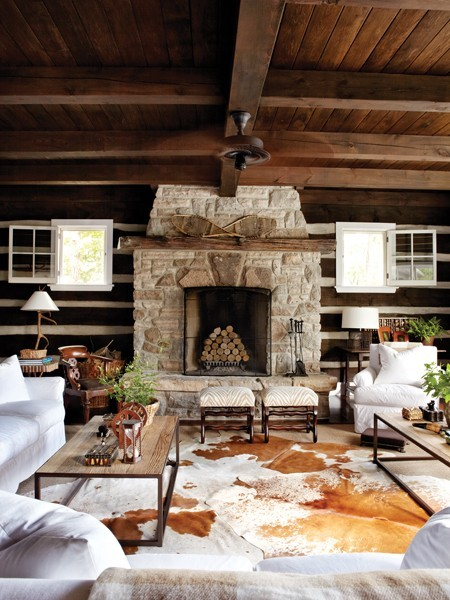 Muskoka cottage, Canada. Michael Angus in House & Home.