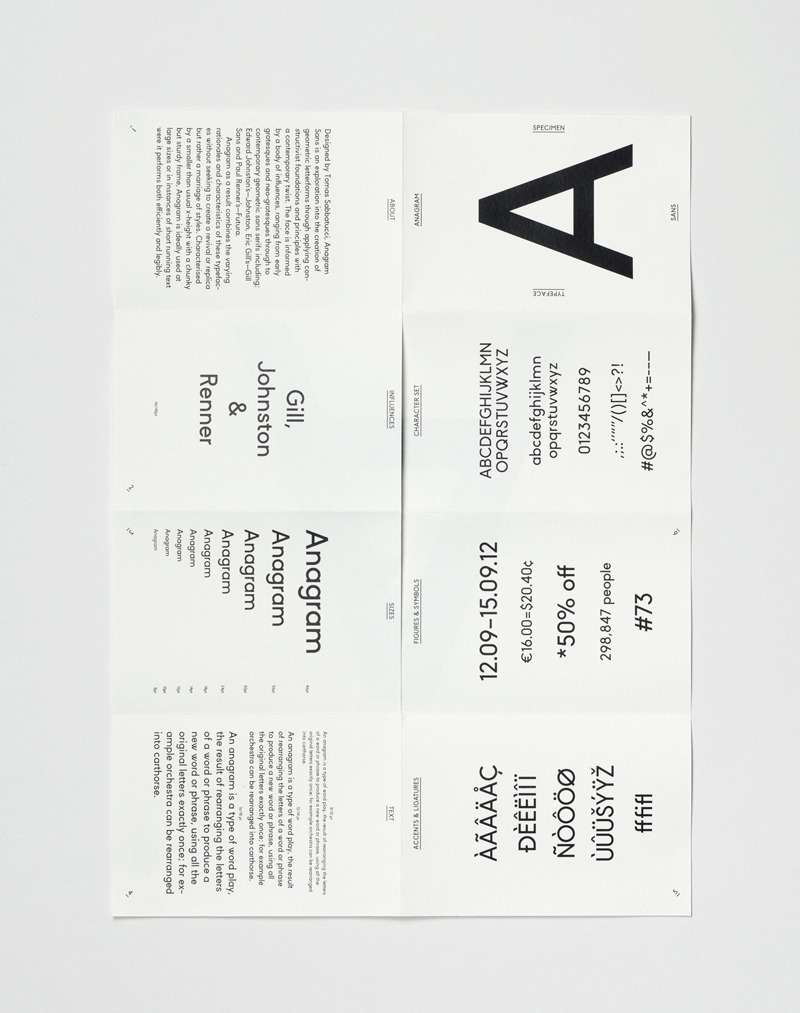 smallcutsensations:  Anagram Sans. by Tomas Sabbatucci