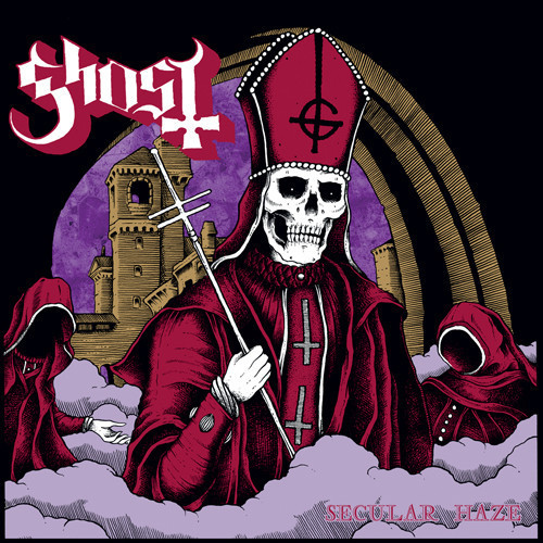"Ghost-""Secular Haze"" I had the curious fortune of seeing these Scandinavian devil worshipers and their incense burning, incantation spewing, groove metal black mass during the Opeth/Mastodon tour this year. Everything darkly appealing about metal and its outsider stance becomes evident in this one band that seems intent on using the well-crafted appearance of Satan worshiping ghouls in an attempt to weed the sensitive and too-serious from their shows. Which is why I felt comfortable enough giving their fan outreach collective ""The Clergy"" my email and why, while unnerved by the message thanking me for ""my offering,"" felt generally optimistic. Then like a hot charcoal briquette shot right out of the devil's ass onto a bound and naked BDSM maven's exposed chest, they hurled this gem at me email."