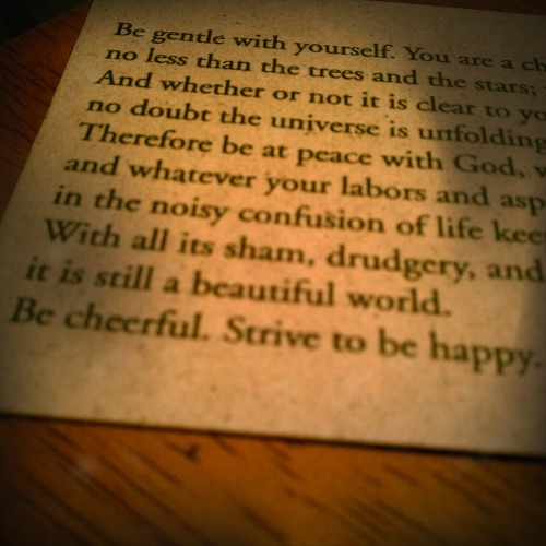 Be gentle with yourself…