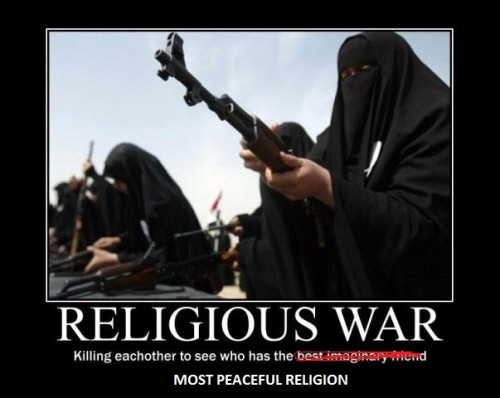 Thank god for religion, how could we be so peaceful without it.