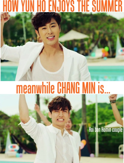 hoibanhomincouple:  How to enjoy summer with TVXQ