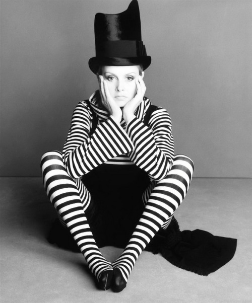 vogueweekend:  Twiggy photographed by Steven Meisel in Vogue Italia April 1993