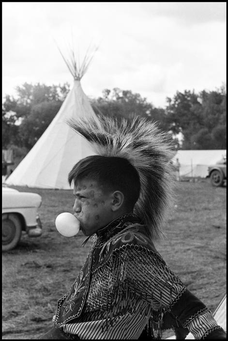 """Life on an Assiniboine Indian reservation"", Montana, 1954 by Burt Glinn"