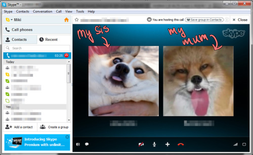 Just got off skype talking to my mum and sis. My family is so silly…  '___' ♥