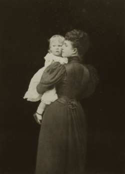 Princess Alexandra of Wales with little prince Edward, future duke of Windsor.