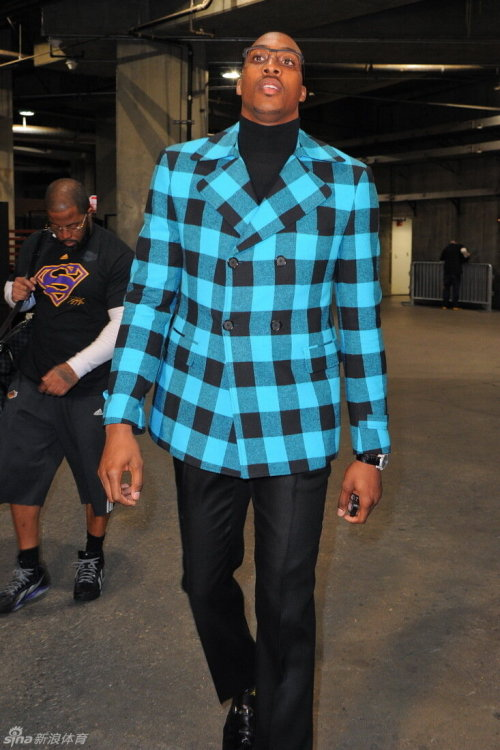 doubleclutch:  Dwight is serious  Good luck coat? Lakers beat Celtics.