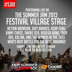 HOT 97 2013 SUMMER JAM FESTIVAL STAGE LINE UP | JUNE 2nd!