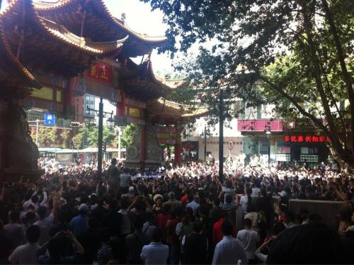 Protesters Take to Streets Again in Kunming