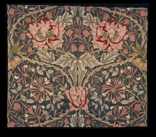lecollecteur:  William Morris, Honeysuckle furnishing fabric.