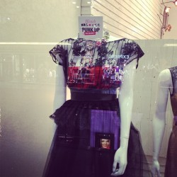We've got @bleachdubai in the house! On display at s*uce @thedubaimall all week! Come down and check out the rest 💙💃#punk #metgala #punkupthevolume #ballgownsgonepunk #dubai #dubaimall
