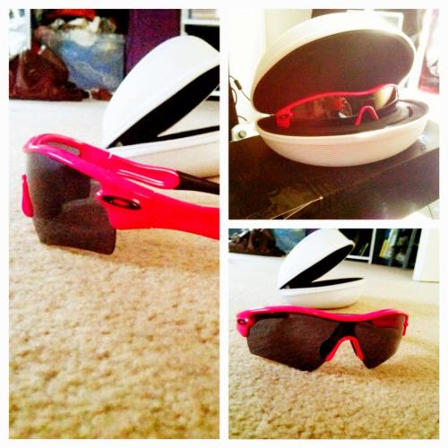 Losing it because I was surprised with the Oakley Radars I've been wanting forever but have always been too poor to buy.