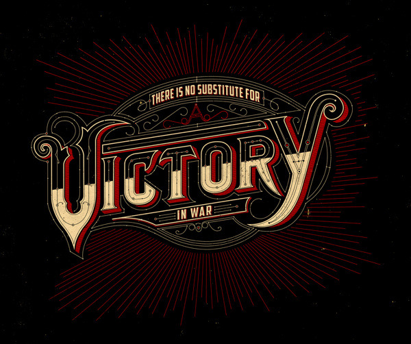 goodtypography:  There's no substitute for a victory in war. http://www.behance.net/gallery/VICTORY/7815735
