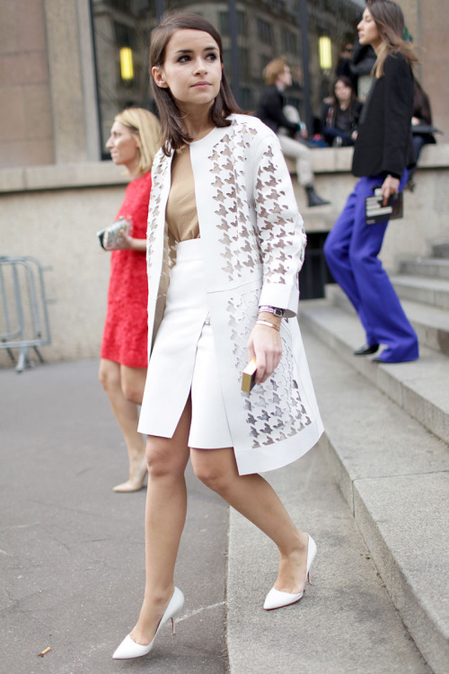 street-c0uture:  Miroslava DumaParis Fashion Week