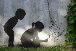 exhibition-ism:  Street artist Pejac transforms concrete walls into imaginative canvases