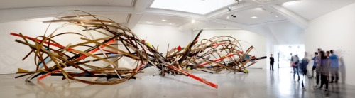 Chaos in Motionwooden/glass sculpturefrom 20.04 - 27.10.2013 MAMAC, Nice
