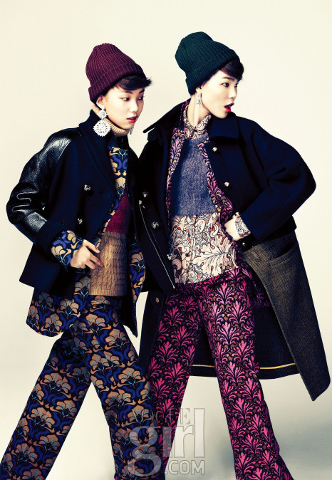 koreanmodel:  Jin Jungsun and Lee Hojung by Ahn Jiseop for Vogue Girl Korea November 2012