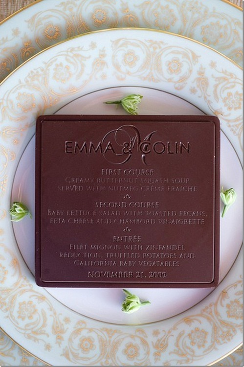 An edible chocolate menu might be my favorite innovation ever