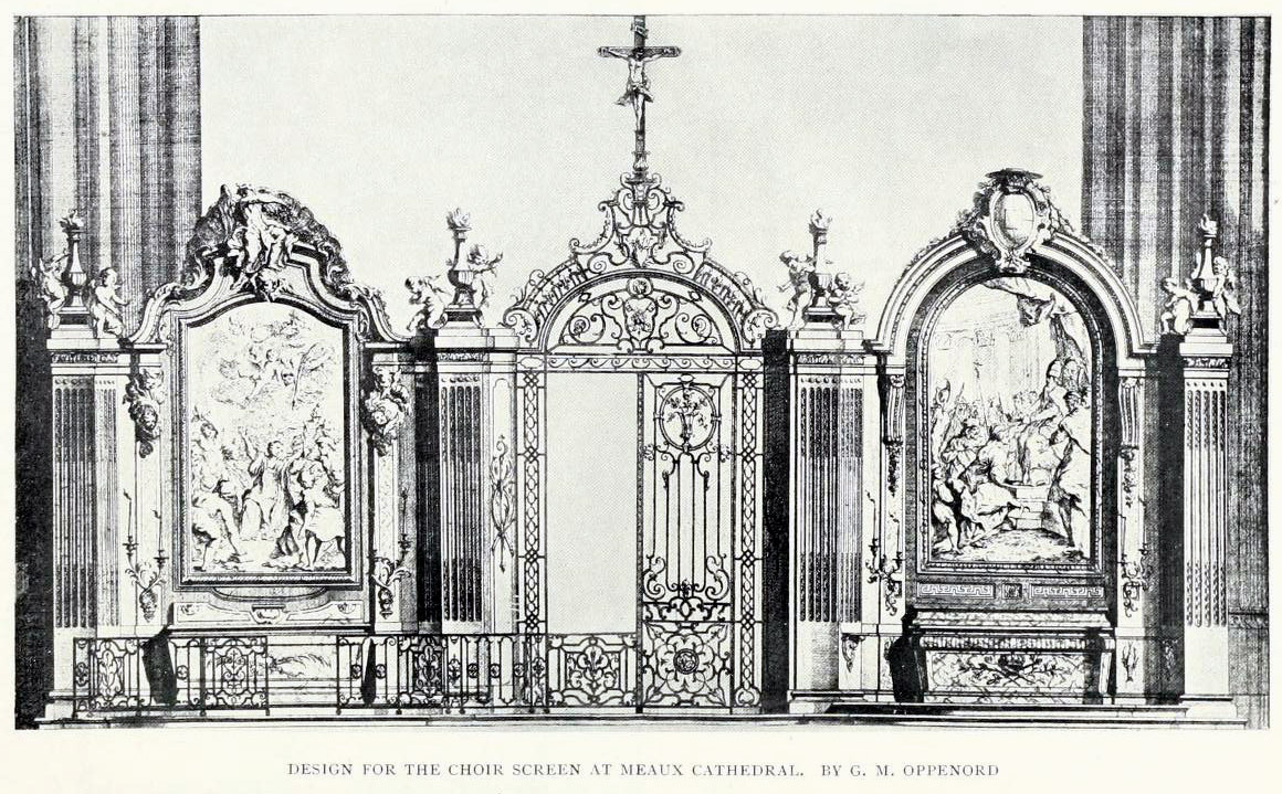 Design for the choir screen at the cathedral of Meaux