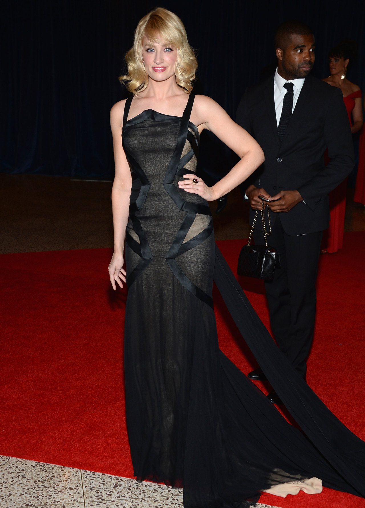 BETH BEHRS  Actress Beth Behrs wore Donna Karan Atelier to the White House Correspondents' Association Dinner at the Washington Hilton on April 27, 2013 in Washington, DC. Photo by Dimitrios Kambouris/Getty Images