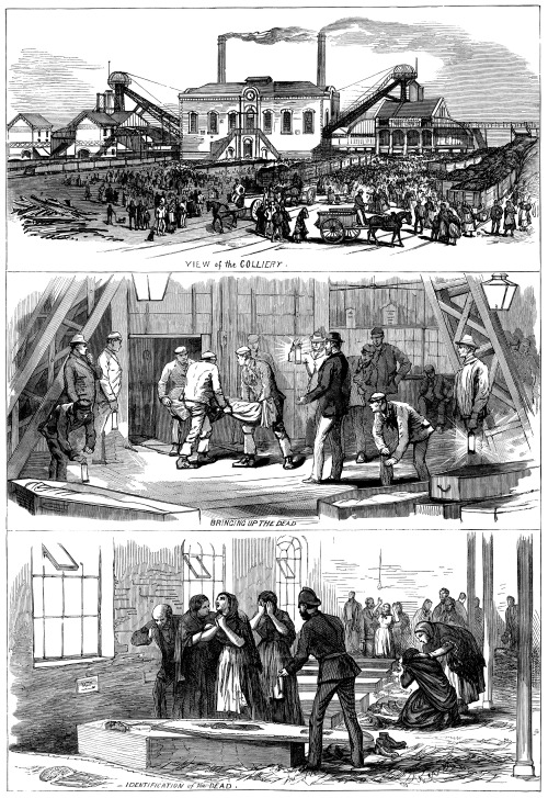 "oldenglandimages:  From The Illustrated London News, Saturday October 20, 1877. The colliery disaster at Wigan, England. ""On Thursday week, at the Pemberton Collieries, near Wigan, there was a terrible explosion of 'firedamp' gas, by which thirty or forty men were killed""."