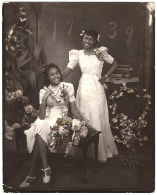 blackhistoryalbum:  Graduation Day | 1939By James Van Der Zee (1886-1983). Gelatin silver print, hand colored, 1939 via Museum of the International Center of Photography. Gift of The Sandor Family Collection, 2000