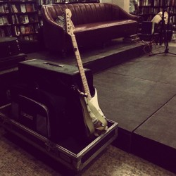 Jammin in the bookstore! #Rebel #TheLastBookStore #DTLA #Guitar #Stage #Couch #RockandRoll