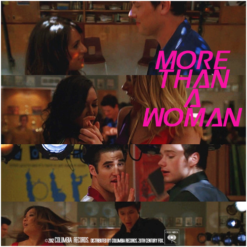 3x16 Saturday Night Glee-ver | More Than A Woman Requested Alternative Cover Request by bribed-with-dots