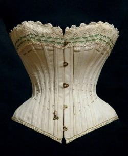 highvictoriana:    Corset from Russia was made at the Abramson corset factory, 1890s.