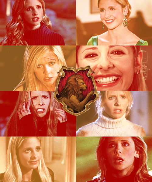 buffysangel:  BTVS SORTING MEME : Buffy Summers → Gryffindor   I'm the thing that monsters have nightmares about. And right now, you and me are gonna show 'em why.