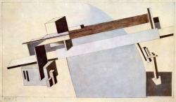 """Proun 1A, Bridge I"", 1919  By: EL LISSITZKY…."