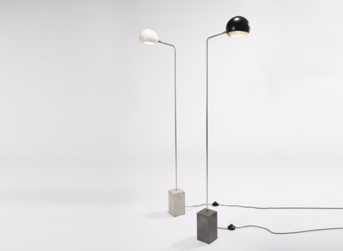 David Weeks Studio Cement Standing Lamps