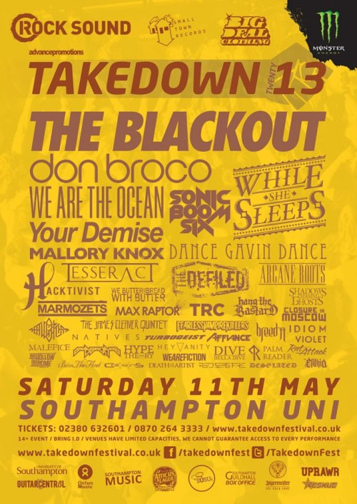 Stoked to be part of another amazing UK One Day Festival..nice one Takedown