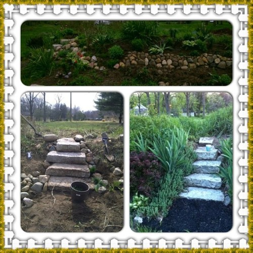 Work in progress #garden #rockgarden #lafayettein  (at Sharp Homes of Lafayette)