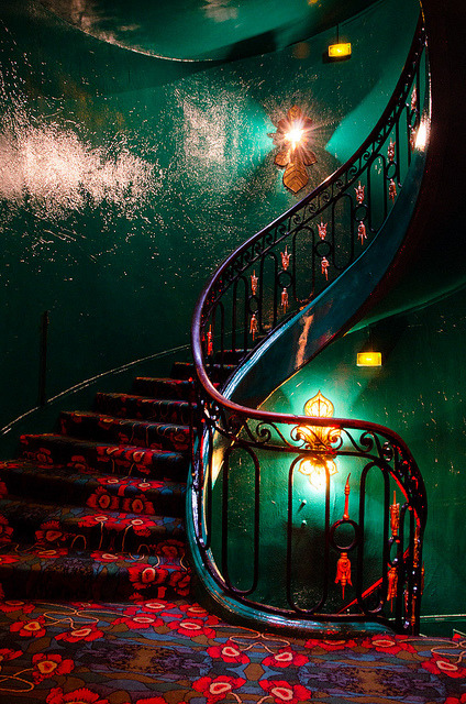 Maxim's stairs, Paris
