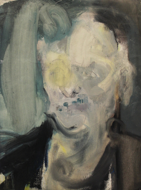 blue-voids:  Yuna Cho - Study for Marlene Dumas, oil on canvas pad, 2012