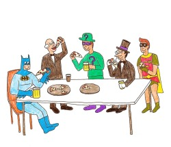 happybatman:  pizza party