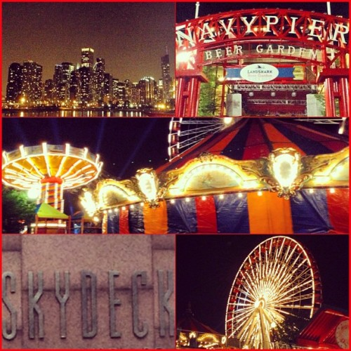 last night in my fave city #chicago #navypier 🌃🎡💙
