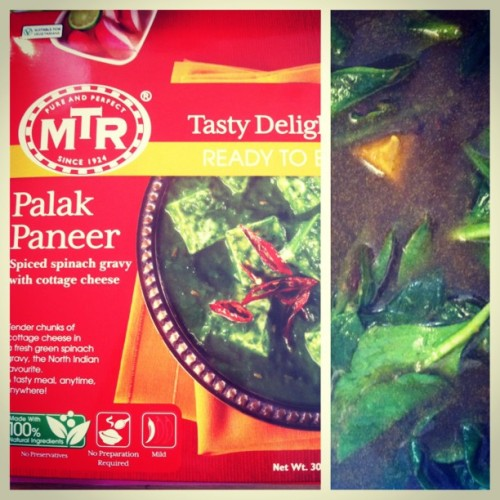 Saw this, Palak Paneer, at World Market this weekend and thought it sounded tasty! So tonight a cooked black rice and made soup with chicken broth and spinach and mixed the palak paneer in. It is so yummy! 😍 #yummy #cleaneating #healthyliving #fitfoodie