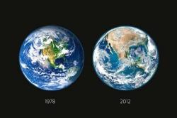 "ikenbot:  NASA Deforestation Image Debunked  Thousands of you guys have probably seen this image floating round the intertubes which shows the supposed deforestation from a 1978 Earth to a 2012 one. While It is a reality that things like pollution, overconsumption, overproduction, poor use of resources and technologies and lack of corporate liability all lend a helping hand to the deforestation of lands but the image provided to illustrate the effects of that carelessness is a false claim. Here's Facts from Fiction to explain this in details:     Claim - ""NASA recently released imagery showing the deforestation of America …in just 34 years"" with a picture showing two earths, one from 1978 and the other from 2012.      Verdict - False, Misleading      I am not trying to argue about the effects our industrial civilization has had on our planet, or the damage we may or not be causing to it., but when people, if even for the best intentions, make and spread misinformation to further the causes they believe in, it tends to damage the credibility of that cause. Recently circulating around social media sites and blogs is an image that claims ""NASA recently released imagery showing the deforestation of America …in just 34 years.""      Earth. Going bald, or just a bad case of fleas?   Maybe it looked too exaggerated, or maybe it was the lack of information behind it, but something didn't seem quite right about the image. A Google search turned up a lot of results, but little explanation or information behind it. Searching Nasa's site didn't turn anything recent about deforestation, but i did find the separate images while going through the picture galleries. It wasn't long and all the pieces of the puzzle fell into place. It turns out, our planet has an interesting phenomena that some of you may have heard about before called ""seasons.""      As a result, a picture of the earth is only going to be as green as the season it was taken in. An image taken in July for instance will naturally look greener than one taken in January after the majority of trees have shed its leaves,  The picture on the left is claimed to be from 1978, but in reality was taken by a multiple picture process by Nasa from June through September 2001, and was slightly edited to look slightly greener than the original. (Source) The second image on the right was taken by Nasa on January 4th, 2012 (Hi Res). According to Wikipedia, Most of the Deforestation in North America happened prior to 1910. Since then, forest resources have remained about the same, largely due to planting new trees to replace the ones that were removed.      While there may be no truth to the picture, it may still for a worthy enough cause. Old growth Forests around the world are still getting steamrolled by progress. In North America alone around 10,000 square kilometers (6213 miles) of old growth forests are harvested every year spelling disaster for countless species of plants, animals, and the people that rely on them to survive. Loggers go in and clean out the forests, and tree planters come in behind them and reseed the areas so they can be logged again in the future. In the meantime, all the plants and animals that used to depend on the forest no longer have a home, and many end up being crowded out , or simply dying off.      (Fact from Fiction)"