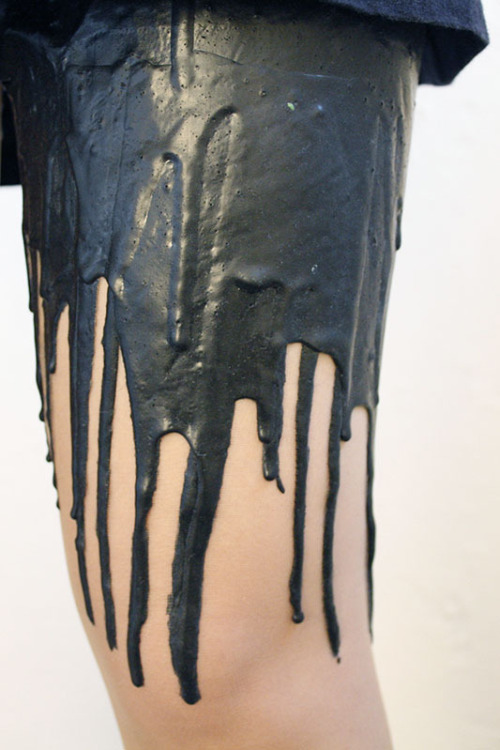 shortsweetblog:  Black Melt Melting Tights by URB