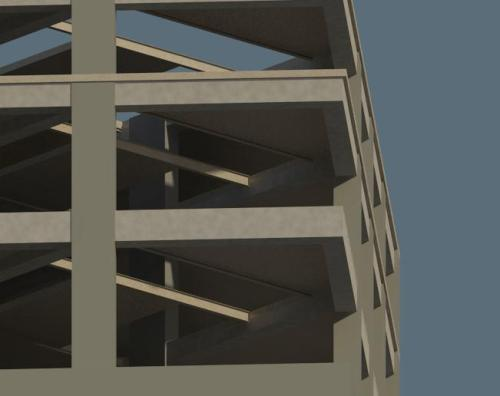 Playing around on revit to get more familiar with it. I modeled some floors of Forsyth Barr house and made some renders