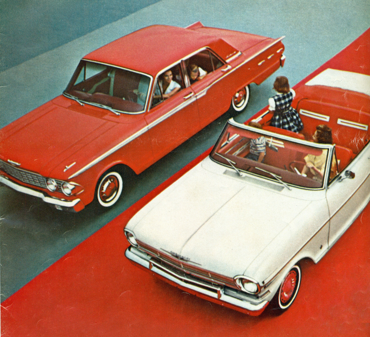 1962 Ford Fairlane Coupe and Chevrolet Chevy II Convertible