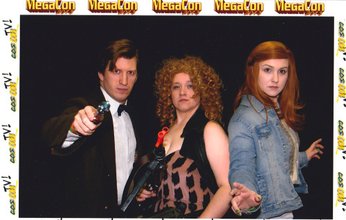 Doctor, River and Amy at Megacon 2013